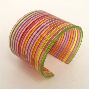 Jewelry - Funky Colorful Transparent Bangle Bracelet